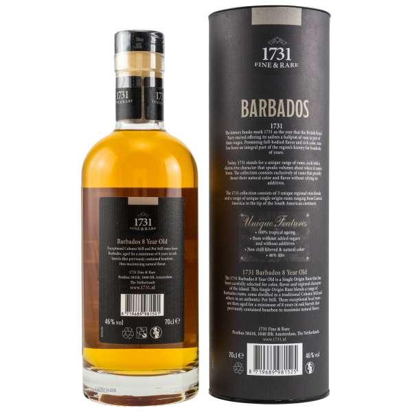 1731 Fine & Rare Barbados 8 Jahre